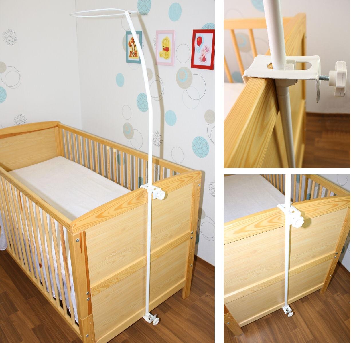 himmelstange stange f r kinderbett babybett gitterbett ebay. Black Bedroom Furniture Sets. Home Design Ideas