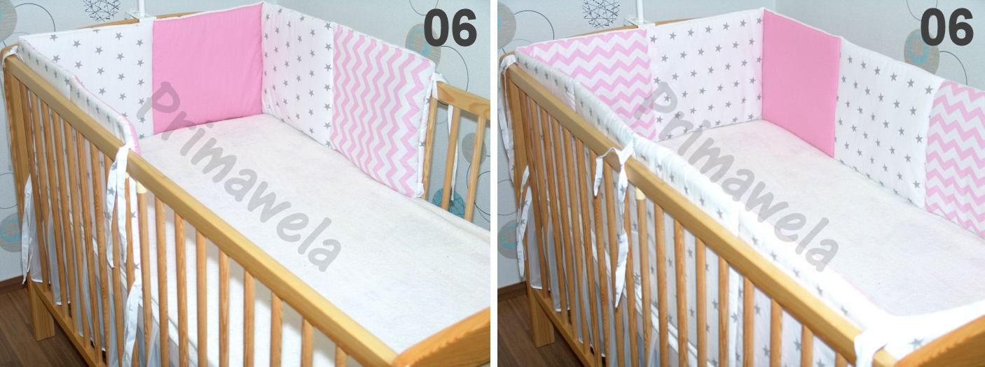 baby kinder 210cm oder 420cm rundum nestchen f r baby bett 70x140 ebay. Black Bedroom Furniture Sets. Home Design Ideas